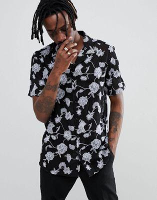 Camisa de festival de corte estándar transparente con detalle de bordados de ASOS DESIGN