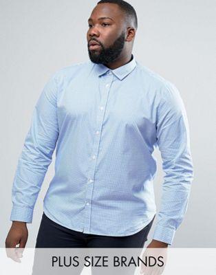Camisa de vestir de corte slim a cuadros de Lambretta PLUS