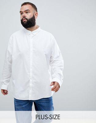 Camisa Oxford de corte estándar en blanco Big & Tall de River Island