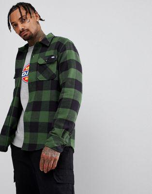 Camisa verde con diseño a cuadros Sacremento de Dickies