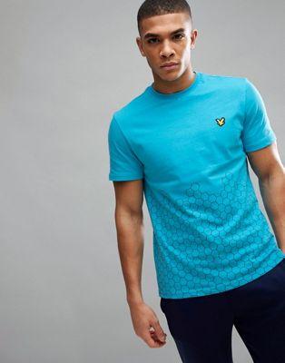 Camiseta azul con estampado gráfico Cornet de Lyle & Scott