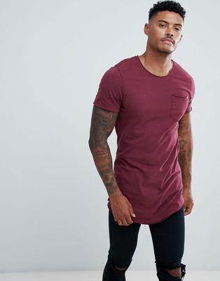 Camiseta con bajo redondeado y bolsillo de Blend