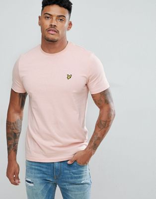 Camiseta con cuello redondo en rosa de Lyle & Scott