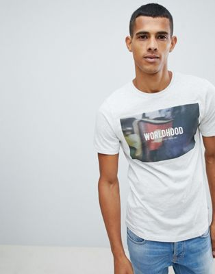 Camiseta con gráfico Worldhood de Only & Sons