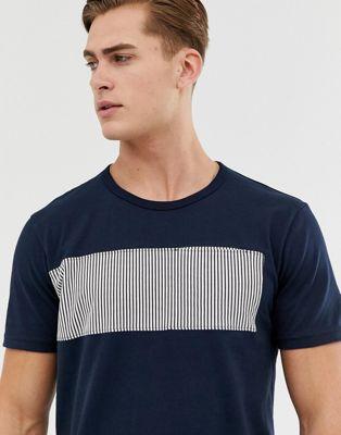 Imagen 1 de Camiseta con panel a rayas de Celio