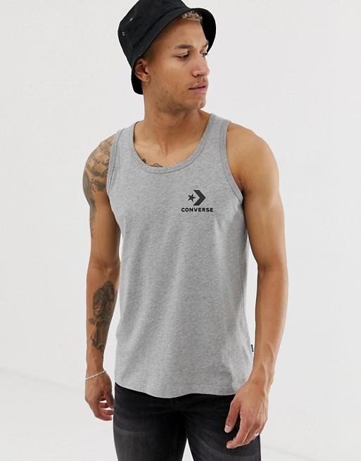 Camiseta De Tirantes Gris Con Logo Pequeño Converse KnpNU