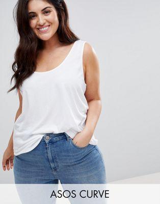 Camiseta de tirantes Ultimate de ASOS DESIGN Curve