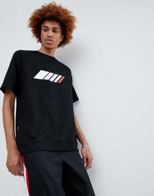 Camiseta negra con logo de Antimatter