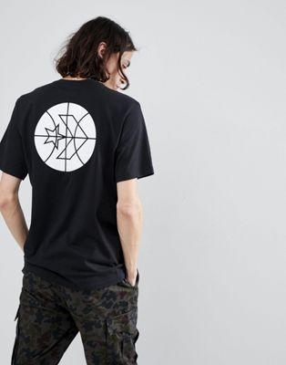 Camiseta negra Cons Court 10005691-A02 de Converse