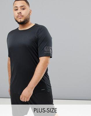 Camiseta negra muy ligera Vapodri exclusiva en ASOS de Canterbury PLUS