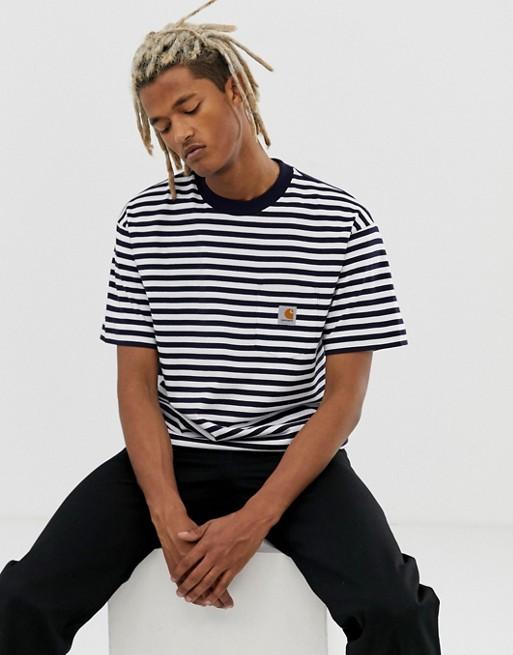 Poche Rayé Blanc Carhartt shirt WipBarkley T À 2Y9IEDHbWe
