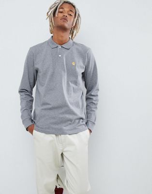 Carhartt WIP Chase long sleeve  polo in grey
