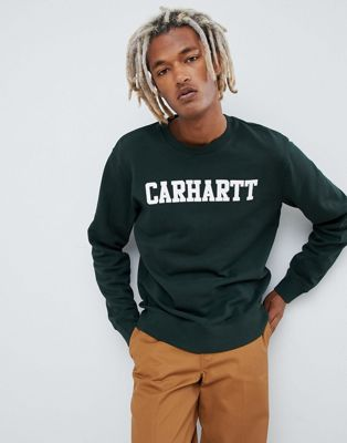 Carhartt WIP College regular fit sweatshirt in green