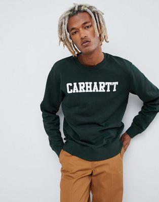 Carhartt WIP - College - Regular-fit sweatshirt in groen