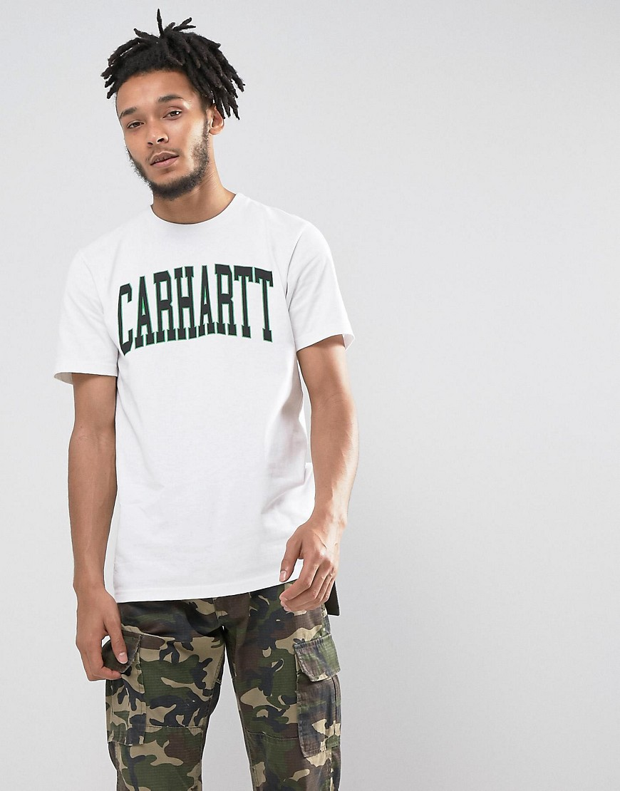 Carhartt WIP Division Regular Fit T-Shirt-White