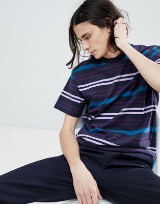 Carhartt WIP - Kress - T-shirt à rayures - Bleu marine