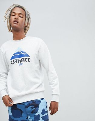 Image 1 of Carhartt WIP Mountain logo sweatshirt in grey