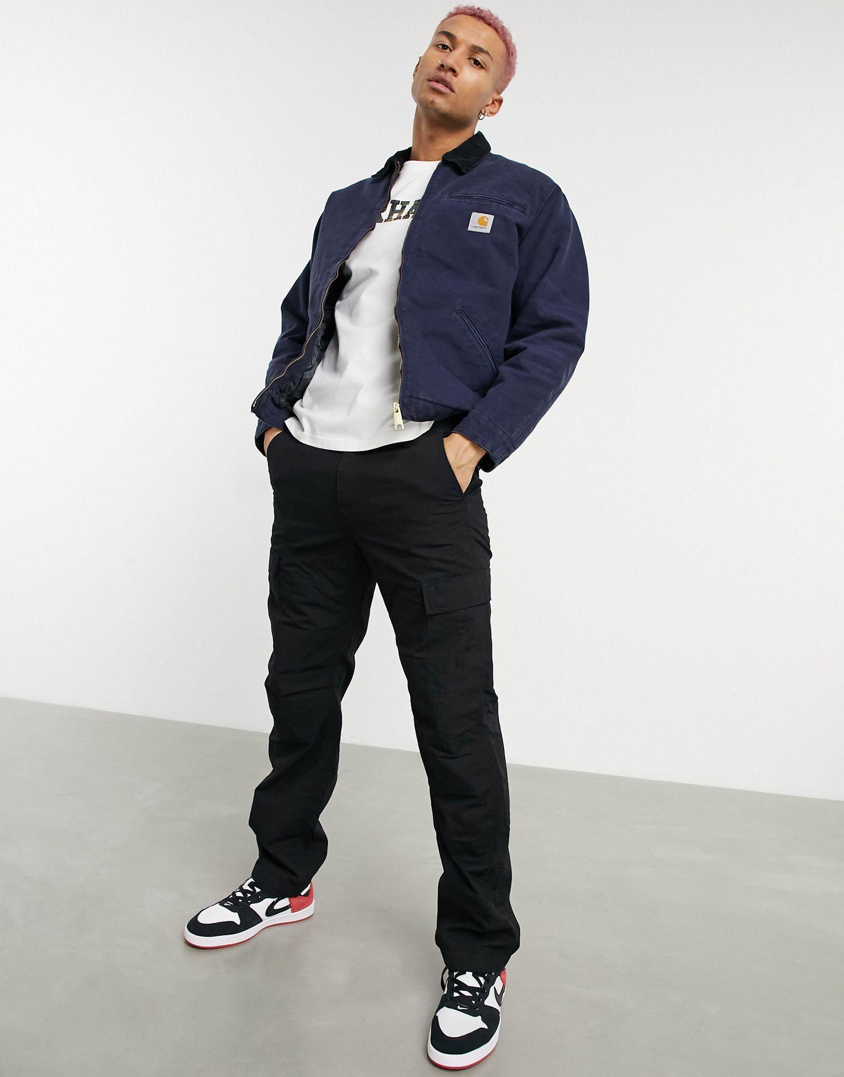 Carhartt WIP OG detroit lined jacket in navy -  Price Checker