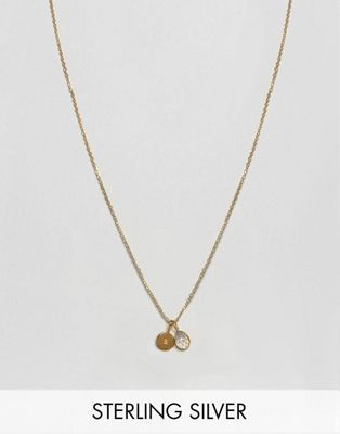 Carrie Elizabeth Initial S Cluster Necklace