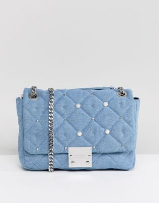 Carvela Denim Pearl Bag