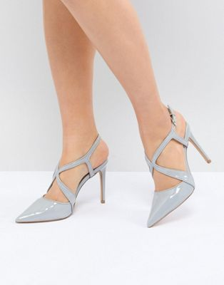Carvela Fierce Point Cross Strap Point High Heels