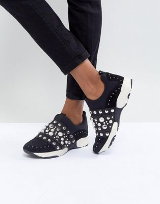 Carvela Luck Studded Trainers