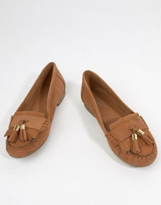 Carvela Mocking Leather Flat Shoes