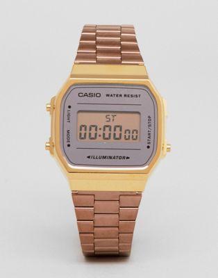 Casio – A168W – Digitale Armbanduhr in Rosé-Gold