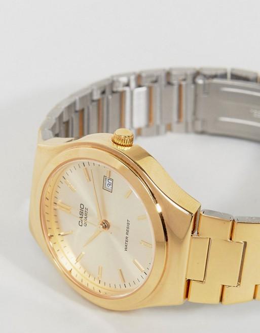 Casio Montre bracelet en acier inoxydable Doré  tTFxy