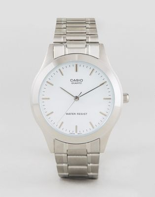 Casio MTP1128A-7A silver stainless steel strap watch