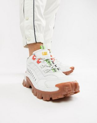 CAT Intruder chunky sole sneakers in white