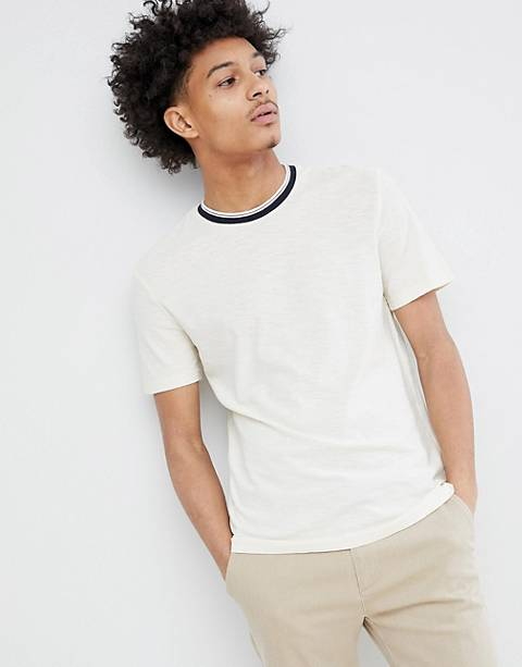 Celio T-Shirt With Contrast Rib