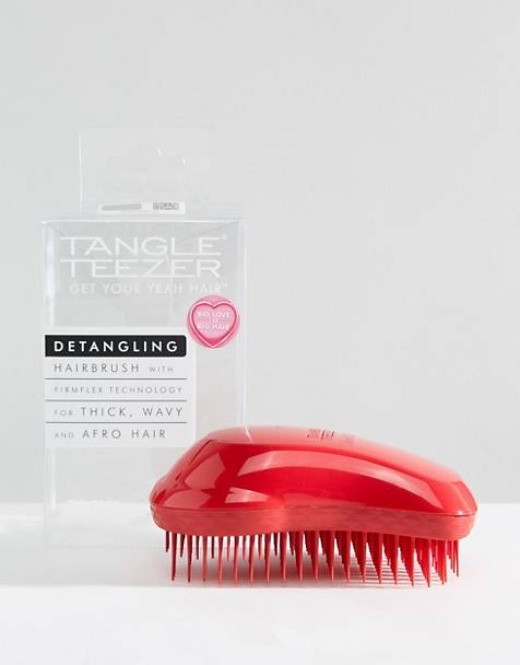 Cepillo para desenredar en rojo salsa Thick & Curly de Tangle Teezer