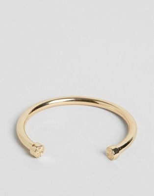Image 1 of Chained & Able bar bangle bracelet in gold