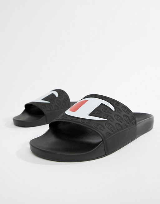 abae65f92248 Champion sliders with large logo in black