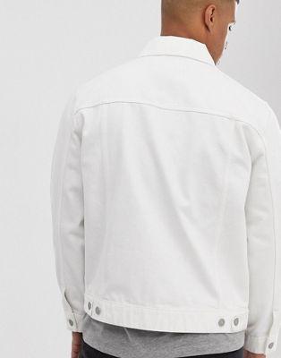 Extragrande Asos Chaqueta En Blanco Design De Denim hsQtrdCx