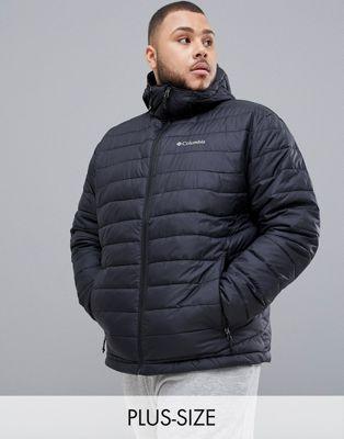 Chaqueta ligera con capucha en negro Powder de Columbia Plus Size