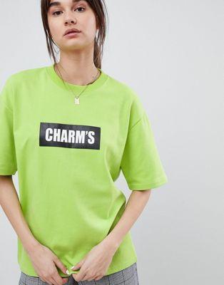 Charm's – T-shirt i oversize-storlek med logga