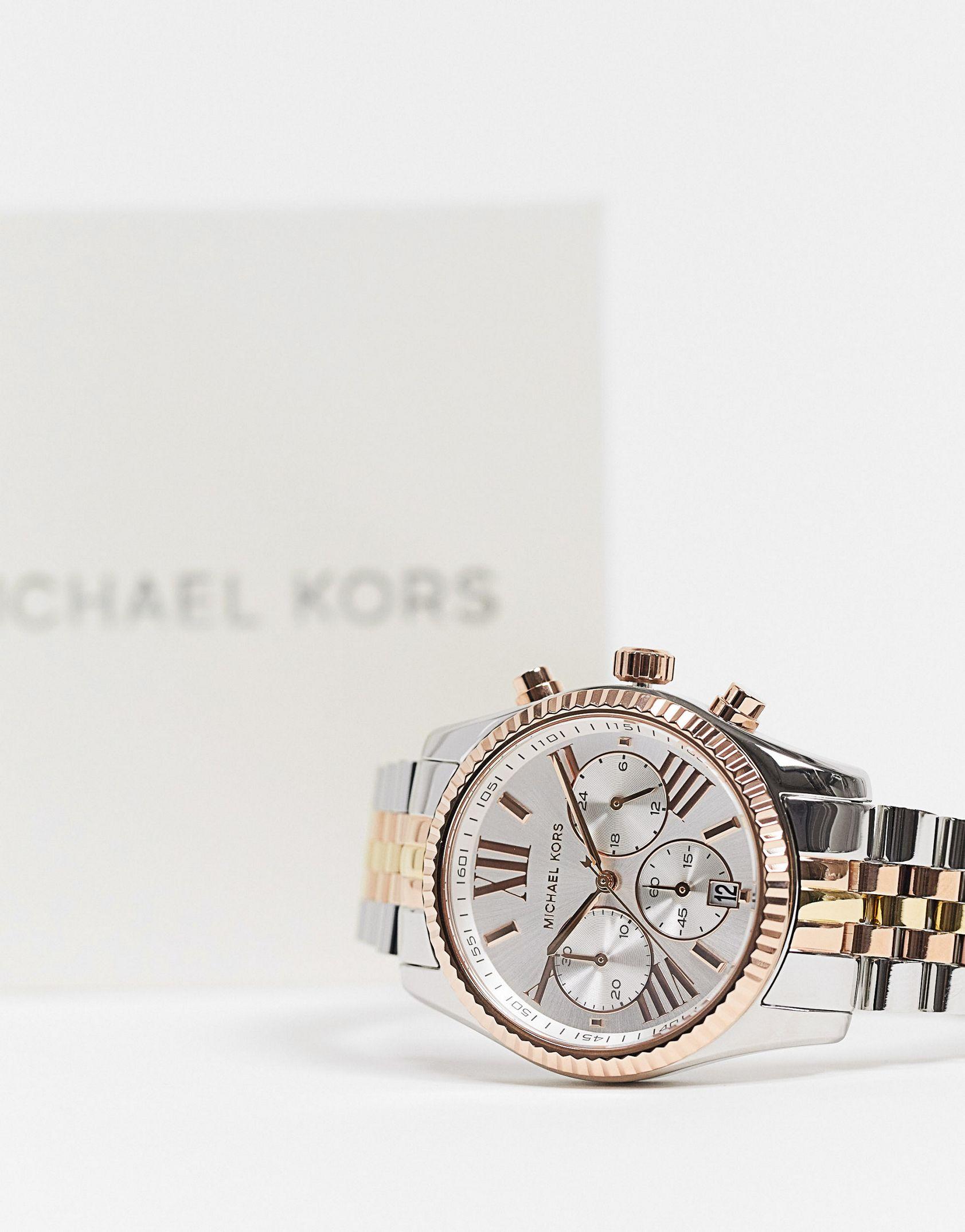 Michael Kors MK5735 Lexington bracelet watch in mixed metal -  Price Checker