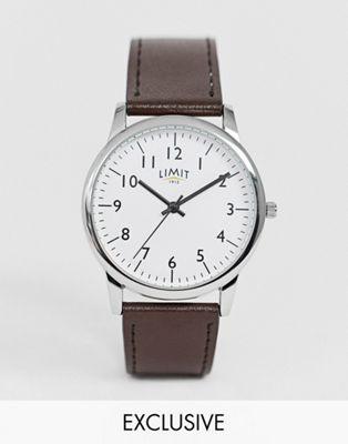 Часы с коричневым ремешком Limit эксклюзивно для ASOS