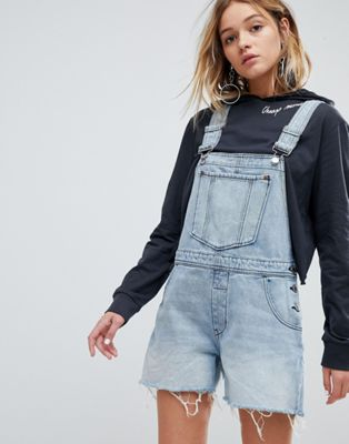 Cheap Monday 90s Style Dungaree in Rigid Denim