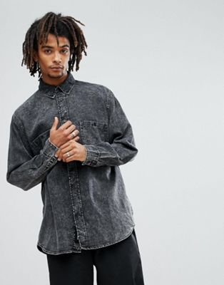 Cheap Monday – Conduct – Stentvättad jeansskjorta