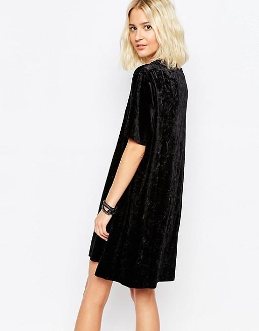 05a66defd6ea0 Cheap Monday Crushed Velvet T-Shirt Dress | ASOS
