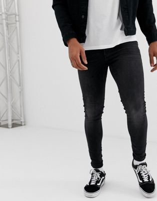 Cheap Monday – Him – Svarttvättade 'Spray on' super skinny jeans
