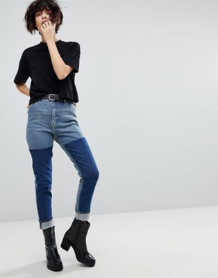 Cheap Monday Mom Jean with Color Block Wash