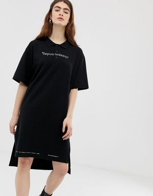 Image 1 of Cheap Monday organic cotton polo dress with logo print