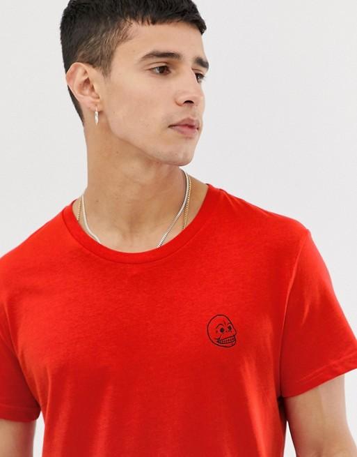 Cheap Monday - T-shirt met klein doodshoofd