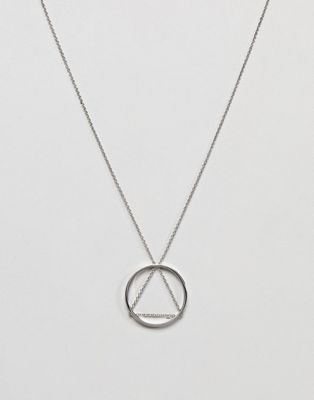 Cheap Monday Triangle Circle Necklace