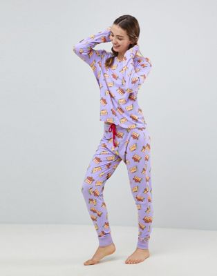 Chelsea Peers Taco Cat Long Pyjama Set