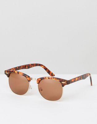 Черепаховые солнцезащитные очки в стиле ретро ASOS